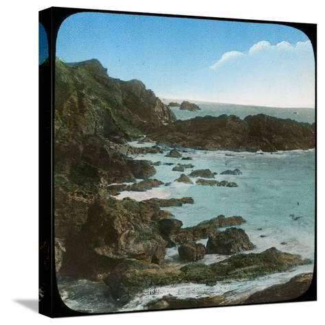 Coastal Scene Near the Lizard, Cornwall, Late 19th or Early 20th Century--Stretched Canvas Print