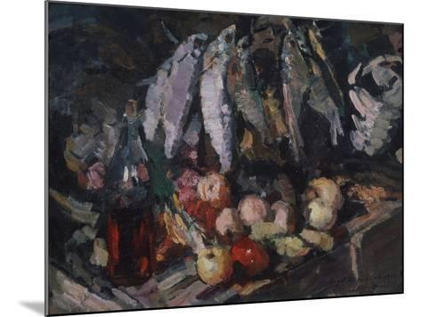Fish, Vine and Fruits, 1916-Konstantin Alexeyevich Korovin-Mounted Giclee Print