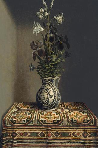 Flowers in a Jug, Ca 1485-Hans Memling-Stretched Canvas Print