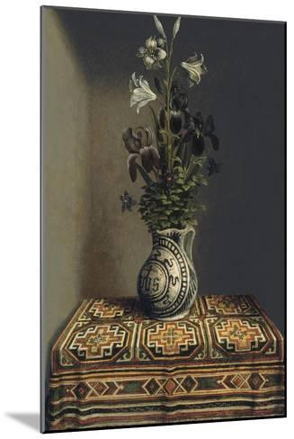Flowers in a Jug, Ca 1485-Hans Memling-Mounted Giclee Print