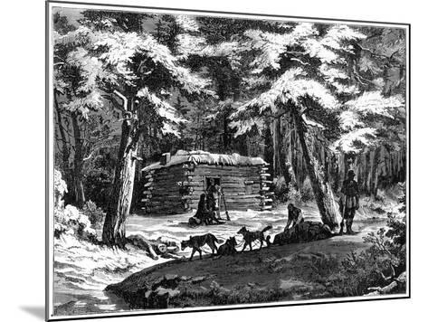 A Winter Hut in the Saskatchewan Country, Canada, 1877--Mounted Giclee Print
