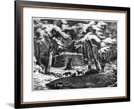 A Winter Hut in the Saskatchewan Country, Canada, 1877--Framed Art Print