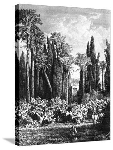 Princely Garden in Cairo, Egypt, 1880--Stretched Canvas Print