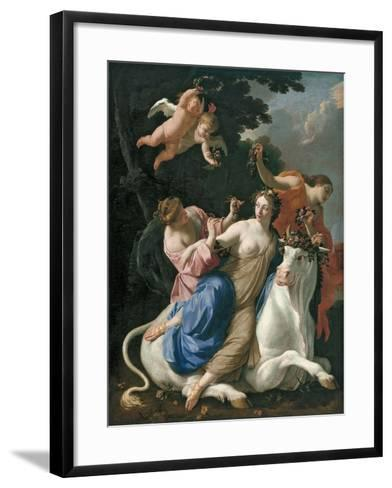The Rape of Europa, C. 1640-Simon Vouet-Framed Art Print
