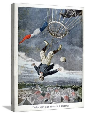 Death of an Aeronaut over Beuzeville, France, 1899--Stretched Canvas Print