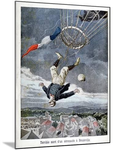 Death of an Aeronaut over Beuzeville, France, 1899--Mounted Giclee Print