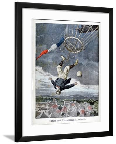 Death of an Aeronaut over Beuzeville, France, 1899--Framed Art Print