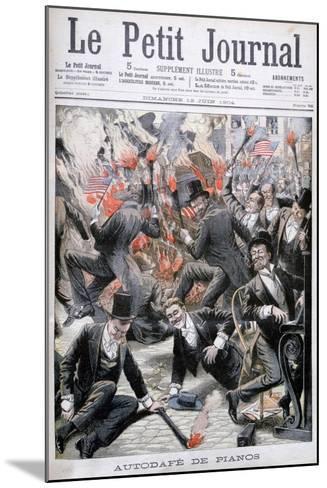 Piano Burning, United States, 1904--Mounted Giclee Print