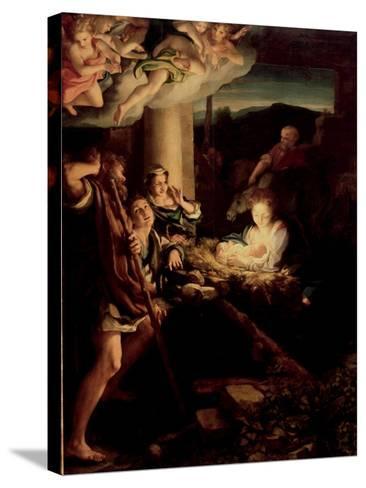 The Holy Night, 1527-1530-Correggio-Stretched Canvas Print