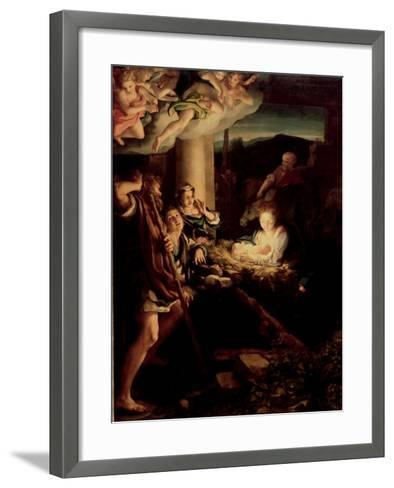 The Holy Night, 1527-1530-Correggio-Framed Art Print