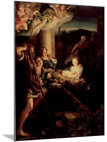 The Holy Night, 1527-1530-Correggio-Mounted Giclee Print