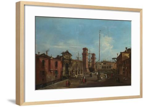 Venice, the Arsenal, 1755-1760-Francesco Guardi-Framed Art Print