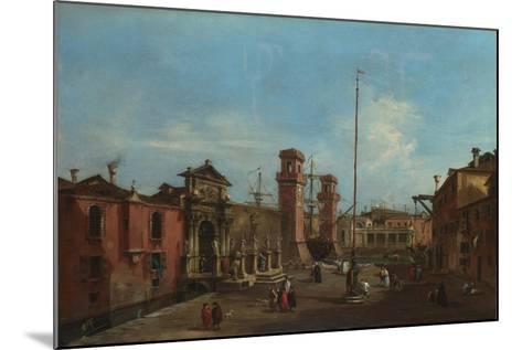 Venice, the Arsenal, 1755-1760-Francesco Guardi-Mounted Giclee Print