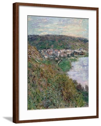 View of V?theuil, 1880-Claude Monet-Framed Art Print