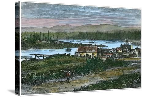 View of the Western Suburbs of Victoria, Vancouver Island, British Columbia, Canada, C1880--Stretched Canvas Print