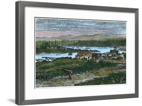 View of the Western Suburbs of Victoria, Vancouver Island, British Columbia, Canada, C1880--Framed Art Print