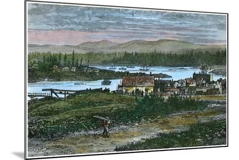 View of the Western Suburbs of Victoria, Vancouver Island, British Columbia, Canada, C1880--Mounted Giclee Print
