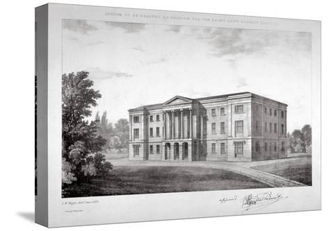 View of the Royal Asylum of St Ann's Society to Be Erected on Streatham Hill, London, 1829-John Henry Taylor-Stretched Canvas Print