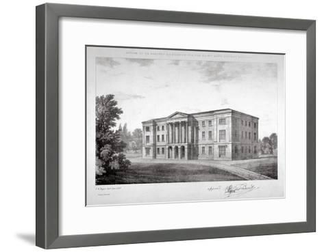 View of the Royal Asylum of St Ann's Society to Be Erected on Streatham Hill, London, 1829-John Henry Taylor-Framed Art Print