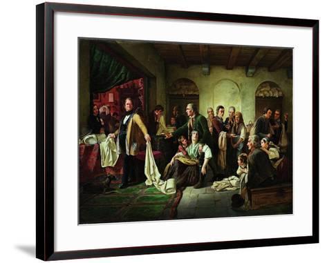 The Silesian Weavers, 1844-Carl Wilhelm Huebner-Framed Art Print