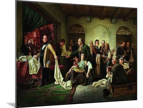 The Silesian Weavers, 1844-Carl Wilhelm Huebner-Mounted Giclee Print