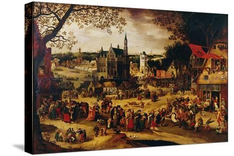 Kermis, C.1600-1605-David Vinckboons-Stretched Canvas Print