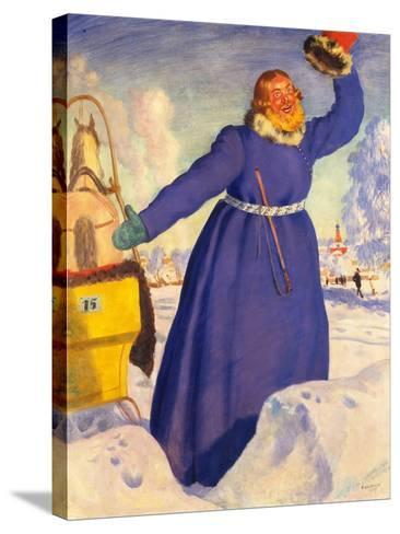 A Reckless Coachman, 1920-Boris Michaylovich Kustodiev-Stretched Canvas Print
