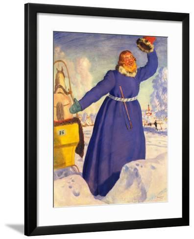 A Reckless Coachman, 1920-Boris Michaylovich Kustodiev-Framed Art Print