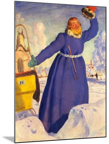 A Reckless Coachman, 1920-Boris Michaylovich Kustodiev-Mounted Giclee Print