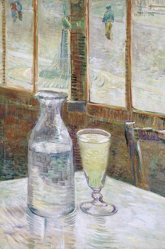 Café Table with Absinth, 1887-Vincent van Gogh-Stretched Canvas Print