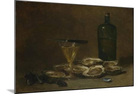 Still Life with Oysters, 1875-1877-Philippe Rousseau-Mounted Giclee Print