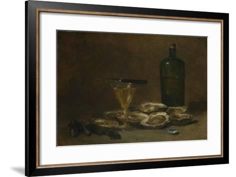 Still Life with Oysters, 1875-1877-Philippe Rousseau-Framed Art Print