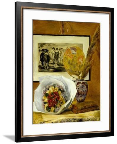 Still Life with Bouquet, 1871-Pierre-Auguste Renoir-Framed Art Print