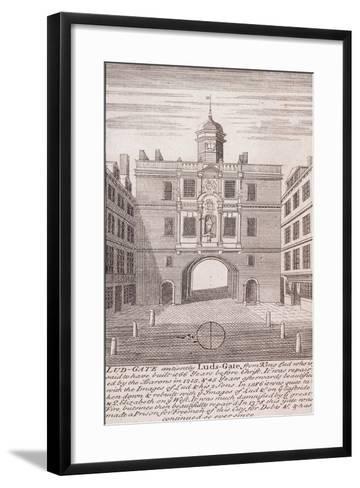 Ludgate, London, C1750--Framed Art Print