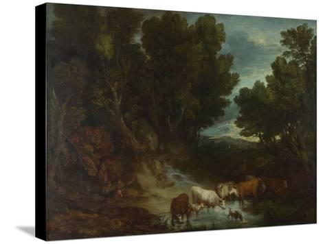 The Watering Place, before 1777-Thomas Gainsborough-Stretched Canvas Print