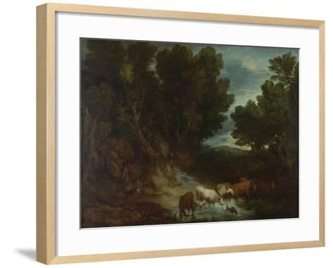 The Watering Place, before 1777-Thomas Gainsborough-Framed Art Print