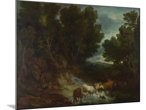 The Watering Place, before 1777-Thomas Gainsborough-Mounted Giclee Print