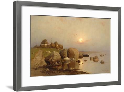 A Fishing Village, 1892-Juli Julievich Klever-Framed Art Print