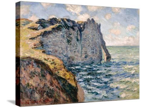 The Cliff of Aval, Etrétat, 1885-Claude Monet-Stretched Canvas Print