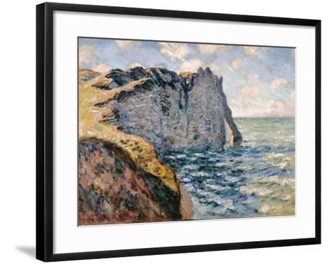 The Cliff of Aval, Etrétat, 1885-Claude Monet-Framed Art Print