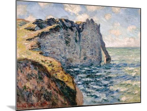 The Cliff of Aval, Etrétat, 1885-Claude Monet-Mounted Giclee Print