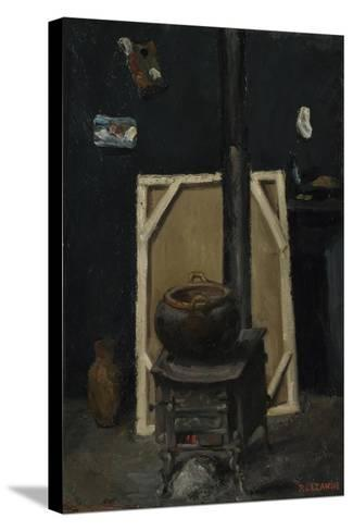 The Stove in the Studio, Ca 1865-Paul C?zanne-Stretched Canvas Print