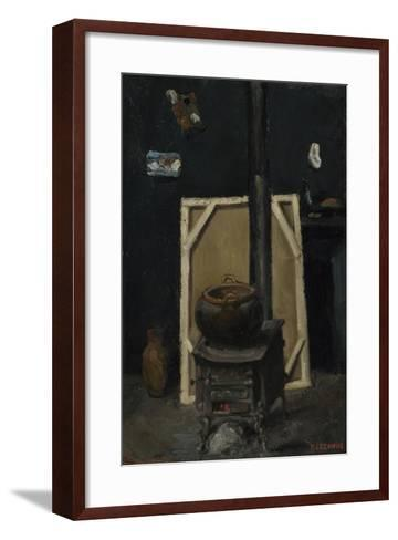 The Stove in the Studio, Ca 1865-Paul C?zanne-Framed Art Print