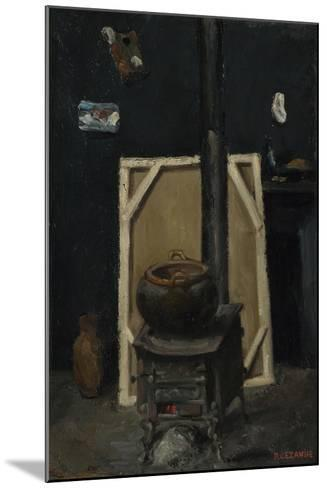 The Stove in the Studio, Ca 1865-Paul C?zanne-Mounted Giclee Print