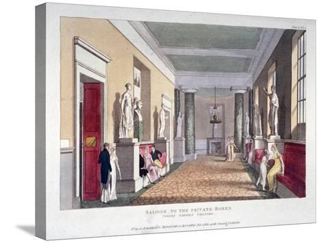 Room Off the Private Boxes, Covent Garden Theatre, Bow Street, Westminster, London, 1810--Stretched Canvas Print