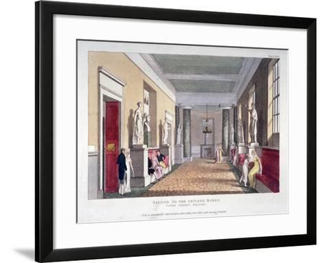 Room Off the Private Boxes, Covent Garden Theatre, Bow Street, Westminster, London, 1810--Framed Art Print