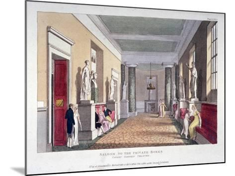 Room Off the Private Boxes, Covent Garden Theatre, Bow Street, Westminster, London, 1810--Mounted Giclee Print