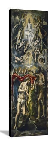 The Baptism of Christ, 1597-1600-El Greco-Stretched Canvas Print