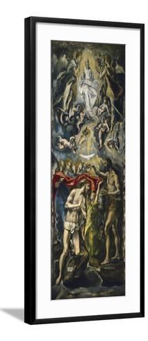 The Baptism of Christ, 1597-1600-El Greco-Framed Art Print