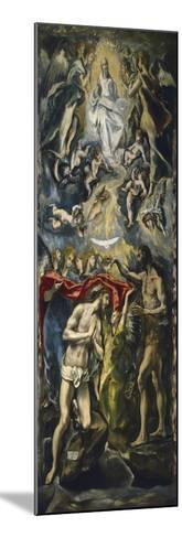 The Baptism of Christ, 1597-1600-El Greco-Mounted Giclee Print